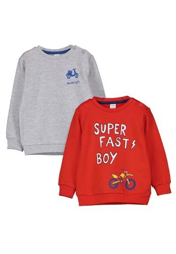 LC Waikiki red 2 Packs Baby Boy's Printed Sweatshirt 9862FKA05393B9GS_1