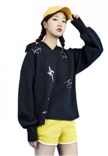 A X A black Tattoo Sweat Shirt AX230AA47CEMSG_1