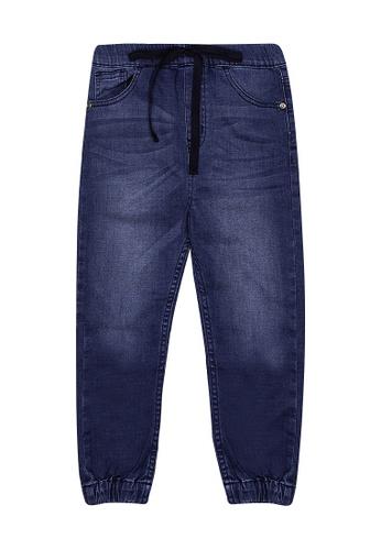 BOSSINI KIDS blue Boys Jogger Denim Pants AB383KAAB0A7D1GS_1