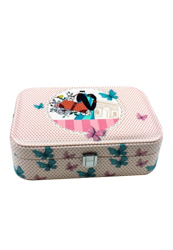 Venice Jewelry pink Fashionable Printed Jewelry box JBPS-DB-02 VE564AC09RWCPH_1