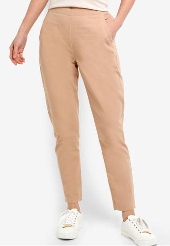ZALORA BASICS brown Basic Cigarette Pants 8580CAA574A99CGS_1