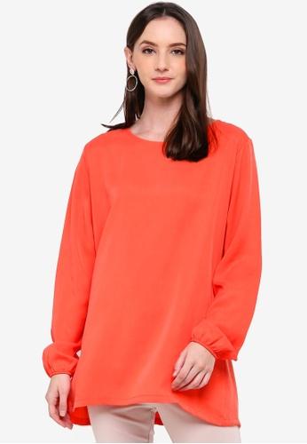 Zariya red Blouse & Tunics 1F13BAAA87309DGS_1