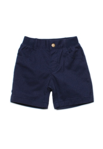 Mini Moley navy Mosaic Print Shorts B46C3KA2209931GS_1