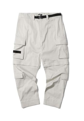 Fivecm beige Belted cargo pants 80CB4AA8CE7D38GS_1