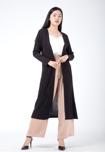 Simplify black Rihana Cardigan Black E901DAAD0DCB2EGS_1