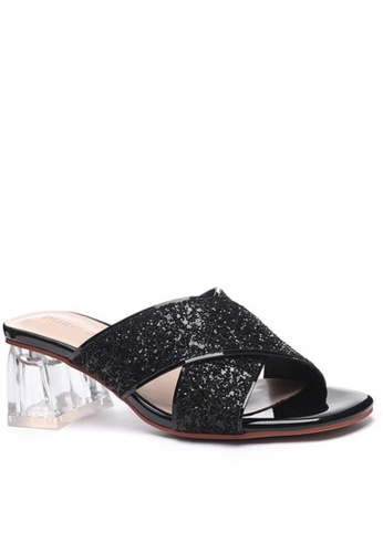 Twenty Eight Shoes black Crystal Heeled Sandals 1801-3 34FB4SHBB1B9D4GS_1