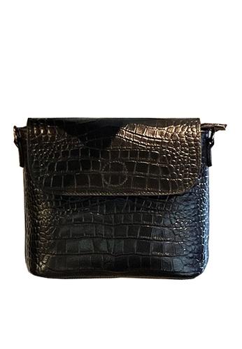 Twenty Eight Shoes black VANSA Retro Crocodile Leather Crossbody Bag VBW-Cb9930 42F82AC15F8F22GS_1