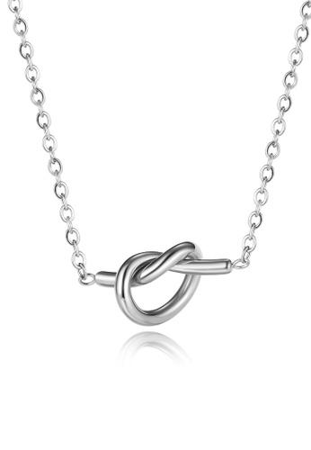 CELOVIS silver CELOVIS - True Love Knot Necklace in Silver 9B01AACEB552EBGS_1
