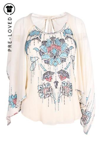 Diane Von Furstenberg beige Pre-Loved diane von furstenberg Silk Tank Top with Maya Embroideries 5B926AA0A7B7A0GS_1