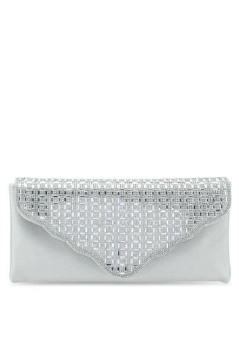 Papillon Clutch silver Curvy Envelope Clutch 4E816AC2930CB5GS_1