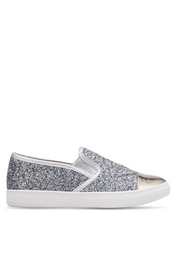 Something Borrowed silver Glitter Toe Cap Slip Ons 37698SH2469BAFGS_1