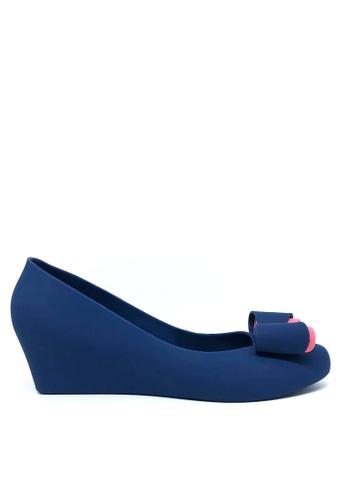 Twenty Eight Shoes blue Sweet Jelly Bow Wedges 510B F4F48SHD13DA12GS_1