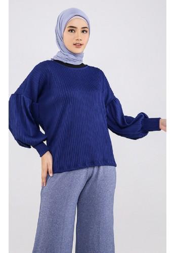 ZAHRA SIGNATURE blue Blouse Puffy Plisket DA684AAF96EC42GS_1
