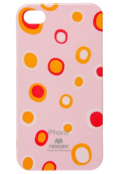 Mercury Printed Jelly Case for iPhone 4/4s [Bubbles - Pink]