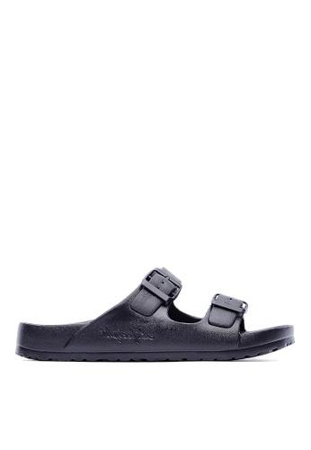 Life8 black Casual Macaron Series Floating Cooling Slippers-09634-Black LI283SH0GMA3SG_1