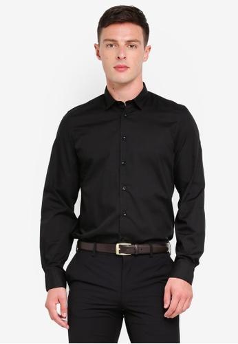 OVS 黑色 休閒襯衫 With Bluff Collar 48935AAF9DE13EGS_1