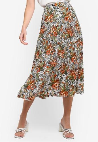 67c74776f3d36d Buy Dorothy Perkins Trop Animl Pleat Skirt Online | ZALORA Malaysia