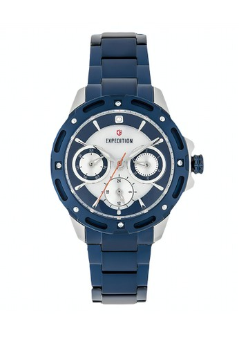 Expedition blue Expedition Jam Tangan - Blue Silver - Stainless Steel - 6760 BFBTUBU F142DAC6563B45GS_1