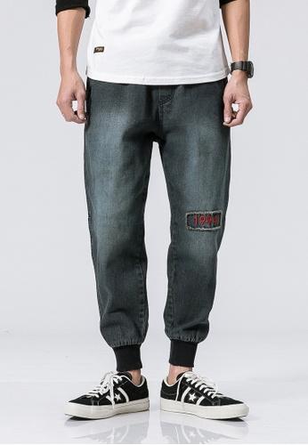 hk-ehunter blue Casual Regular Fit Denim Jeans 1BA03AAA44429DGS_1