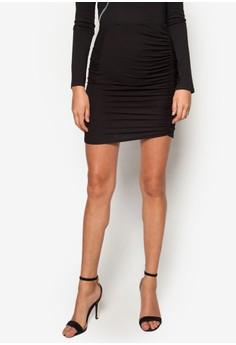 Ruched Mini Skirt