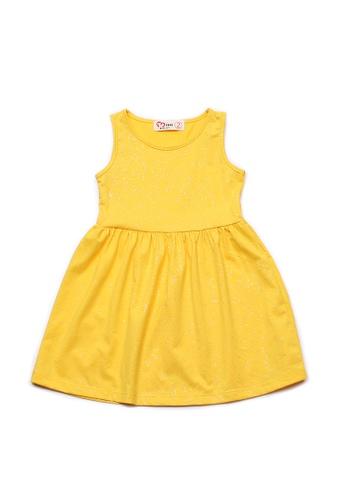 Mini Moley yellow Glitter Dust Girl's Dress DF6FDKAE819D29GS_1