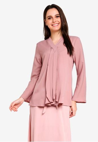 BYN pink Muslimah Blouse A2916AA98E5ED9GS_1