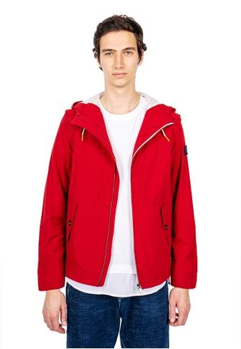 East Pole red Unisex 10 Pockets Detachable Sleeves Travel Windbreaker CAB51AA8415654GS_1