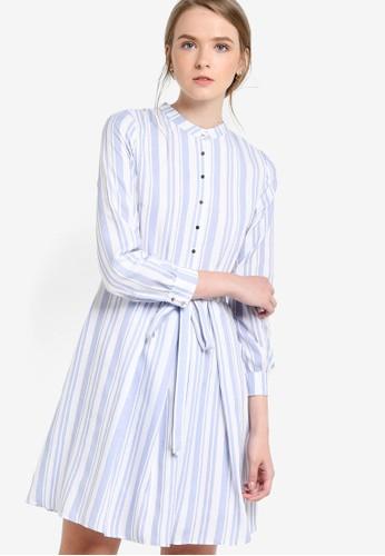 條紋長袖連身裙esprit童裝門市, 服飾, 洋裝