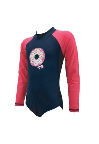 TYR pink TYR Rainbow Sprinkles Girl's Zip Suit 9FCB5KAE7E94E5GS_1