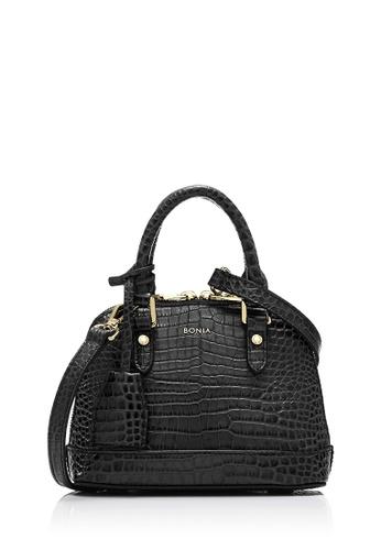 BONIA black Black Regina Zoey Croco Satchel Petite 8EA1AAC8A838F8GS_1