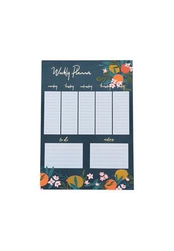Klosh Weekly Planner Tear Off Pad – Floral F640FHL806324CGS_1