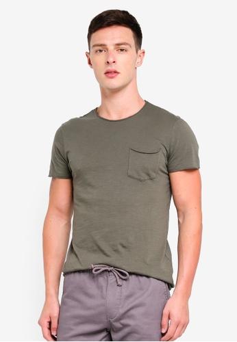 OVS 灰色 短袖T恤 With 口袋 1E203AA10C222AGS_1