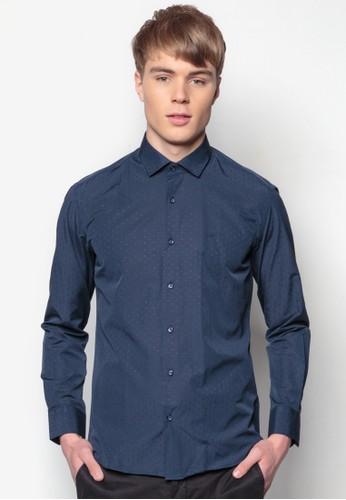 貼身esprit 兼職長袖襯衫, 服飾, 印花襯衫