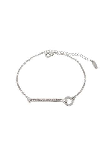 Jaysa Collection silver Palladium Crystals Strip Ornament Bracelet JA875AC0FVGPSG_1