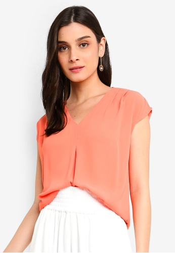 FORCAST orange Kate Contrast Top C39C1AA1AC149FGS_1