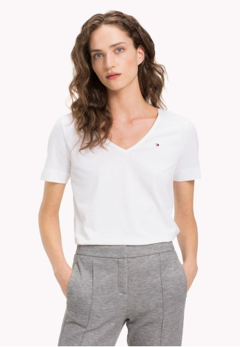 eb8e088a Buy Tommy Hilfiger LUCY V-NK TOP SS Online on ZALORA Singapore