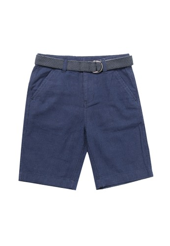 Giordano navy Junior Linen Cotton Short DF1A4KAFAE6E50GS_1