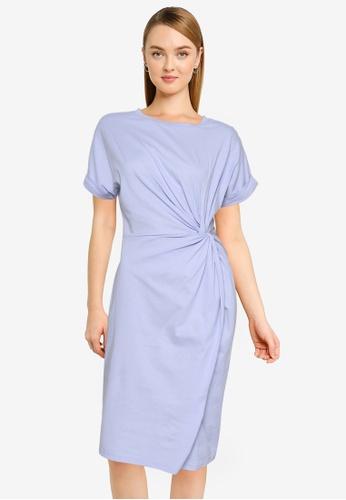 Nichii 紫色 前Knot T恤 洋裝 B007FAAE1A4404GS_1