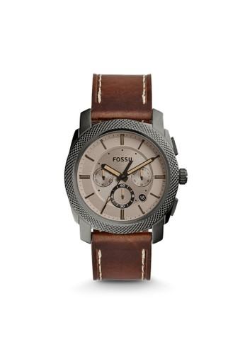 Fossil MACHINE紳士型男錶 FS5215, 錶類, 紳esprit手錶專櫃士錶