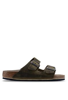 0b3ffa753c0 Birkenstock green Arizona Oiled Leather Soft Footbed Sandals  A8EF0SHDBA6D47GS 1