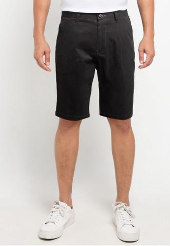 Denim Addict black Men Twill Short Pants 6A280AA471B14CGS_1