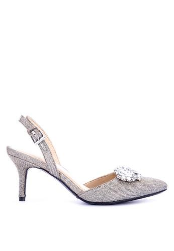 Aerosoles silver Penelope Sling Back Heels 377C8SH2D40164GS_1