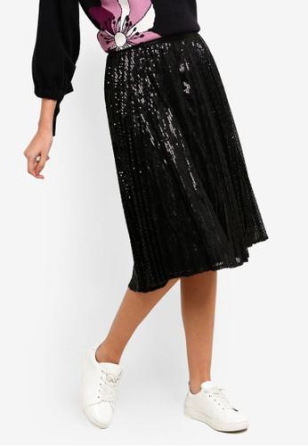 ESPRIT black Embellished Midi Skirt 4E33DAA537F7D5GS_1