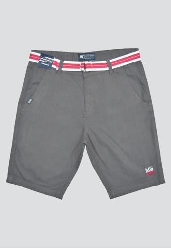 Moose Gear grey Short Pants Twill With Belt For Boys 73FDDKAE18966EGS_1
