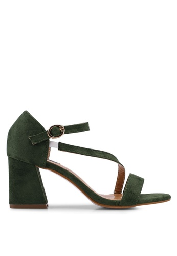 Mimosa green Ankle Strap Chunky Sandal Heels 75D7BSH25629D3GS_1