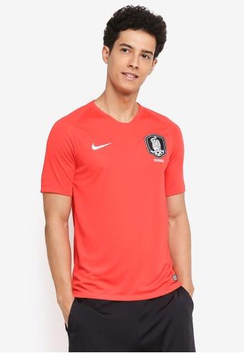 Nike white Nike Breathe Korea Stadium Home T-Shirt 0450CAACC1261DGS_1