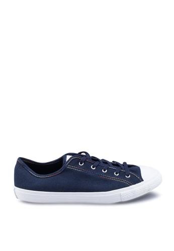 Converse grey Chuck Taylor All Star Dainty GS Rainbow Ox Sneakers 614CCSHDE690B4GS_1