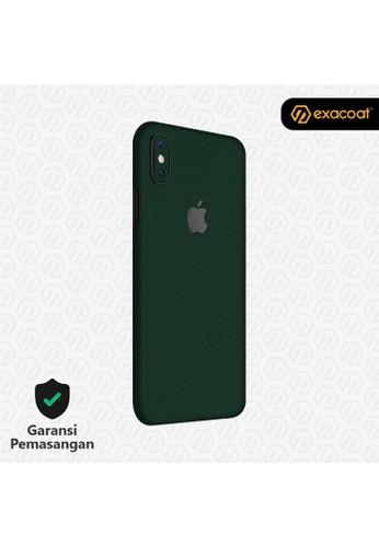Exacoat iPhone XS Max Skins True Colors - Emerald Green 57E7FES38E098FGS_1