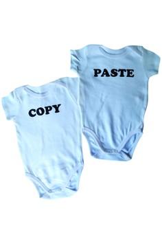 Copy Paste Twin Onesies