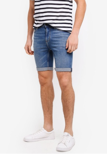 MANGO Man blue Vintage Wash Denim Bermuda Shorts 84538AA03F76C1GS_1